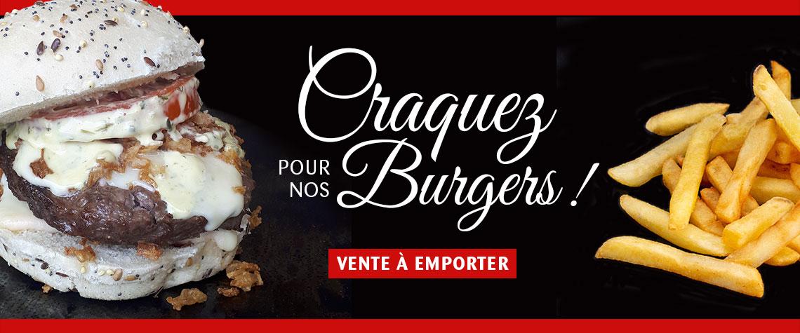 Burgers à emporter au Fil Rouge, restaurant à Quimper
