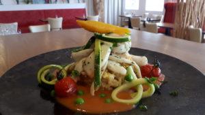 Plat préparé au Fil Rouge, restaurant à Quimper